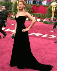 Beyonce works the red carpet at the 77th Annual Academy Awards in 2005.