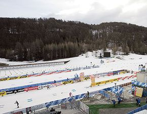 Part of the 2006 Torino Olympic biathlon course in Cesana, San Sicario, Italy