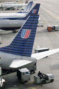 United Airlines baggage handlers getting to work at Denver International.