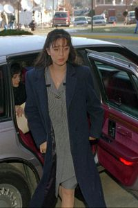 Lorena Bobbitt arriving at court for the malicious wounding case against her in 1994.