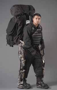 The Berkeley Lower Extremity Exoskeleton (BLEEX) helps lighten the load for the human user.