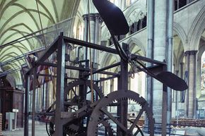 You can still see the Salisbury Cathedral clock, the world's oldest clock, in England.
