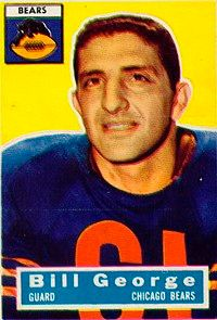 Bill George's quick thinking helped him middle linebacker. See more pictures of football players.