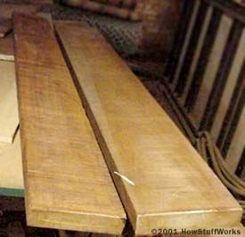 Met-Tech uses solid mahogany planks to build their tables.