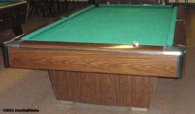 A tournament-sized table
