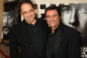 "Show creator David Milch and Ian McShane pose at the ""Deadwood"" 2006 season premiere."