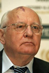 Former Soviet President Mikhail Gorbachev is a famous face with a very familiar port-wine stain.