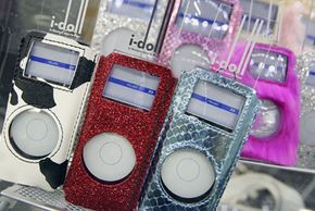 Fashionable iPod covers, from the glittery to the fuzzy to the bovine, on display. Accessories for the MP3 players have created a huge, diverse market -- how weird can they get? See more iPod pictures.