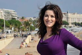Cookbook author and TV personality Nigella Lawson has both a curvy figure and a degree from Oxford.