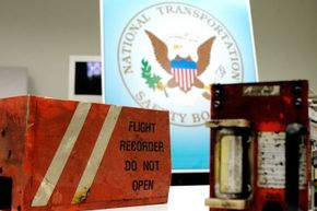 The cockpit voice recorder and the flight data recorder that was retrieved from Comair Flight 5191 in 2006.