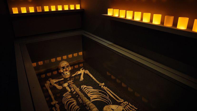 Skeleton from victim of black death