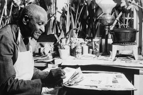 Although George Washington Carver's parents were slaves, he earned a master's degree and became a famous botanist.