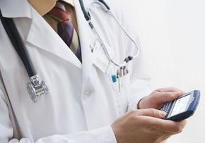 Some doctors use their BlackBerrys to get orders, prescribe drugs and diagnose diseases.