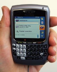 BlackBerry users can access other instant messaging programs such as Yahoo Messenger.