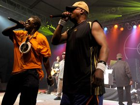 Public Enemy's Flava Flav (left) and Chuck D. perform in June 2009.