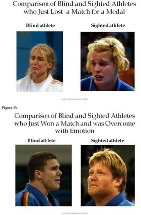 facial expressions of blind and sighted athletes