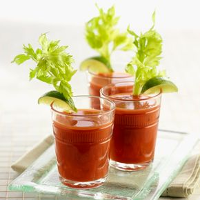 Bloody Caesar: Similar to the Bloody Mary, this cocktail is popular all over Canada. It's made of vodka, tomato-clam juice, Worcestershire sauce, and hot sauce, served on the rocks in a glass rimmed with celery salt.