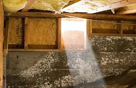 Non-insulated crawl of typical American home.