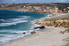 Coast of Sardinia, Italy, one of the world's few blue zones.