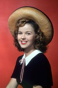 Shirley Temple, poster girl of the bobby-soxers.