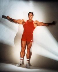 Arnold Schwarzenegger in 1985, long before his days as governor of California