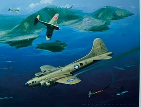 Although most closely associated with European operations, the Boeing B-17 also flew in the Pacific. The plane was See more classic airplane pictures.