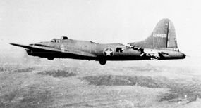 The Boeing B-17 was legendary for its ability to return to base after sustaining damage that would have doomed a lesser aircraft. This badly mauled B-17 was photographed over Tunisia as it headed home with an almost-severed tail section.