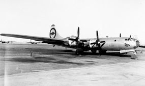 The Boeing B-29 Superfortress Enola Gay took off for Japan on the morning of August 6, 1945. With the primary target obscured, Col. Tibbets directed that the bomber head for the secondary target: Hiroshima.