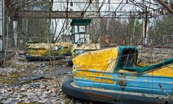 An abandoned amusement park in Pripyat, Ukraine, where residents were forced out by the meltdown at the Chernobyl nuclear power plant.