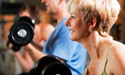 You should do strength training at least once a week to help combat muscle loss.