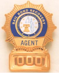 Bail bond recovery agent badge