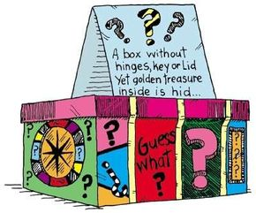 The mystery boxes box craft holds mysterious items.
