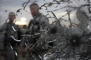 The ability of bullet-resistant glass to stop a bullet is determined by the thickness of the glass.