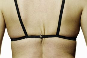 This bra isn't just too tight; its tiny back strap won't be able to adequately support the bust.