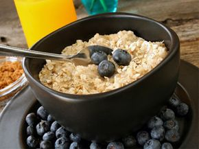 Breakfast of champions: the slow-burning glucose of oatmeal with the antioxidant power of berries.