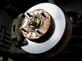 The brake system of a car. See more brake pictures.
