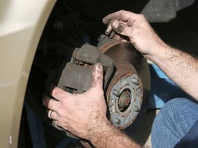 Organic brake pads create a lot of brake dust, which makes changing the pads a somewhat dirty job.