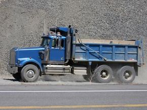 Large trucks often use ceramic or metallic brake pads -- both are known for strength and durability.