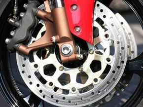Of course they're functional, but motorcycle brake rotors often have a decorative appearance, too.
