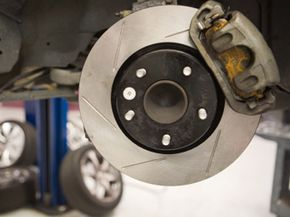 Slotted brake rotors are great for high-performance braking; however, you'd better be ready to change the brake pads more often.