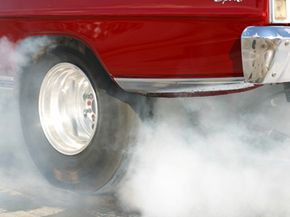 If you slam on your brakes and they lock up, you could burn a lot of rubber. See more brake pictures.