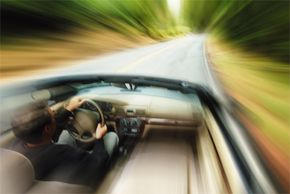 If you just can't stop your car, look for something to run into that will give way and provide a softer impact.