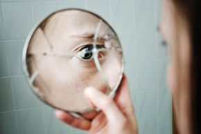 According to superstition, breaking a mirror also breaks the soul into pieces.