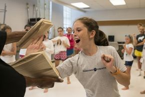 In 2014, Maeve Murray, 11 at the time, was able to break two wooden boards in the karate class at Girls Up, a summer camp founded by her mother.