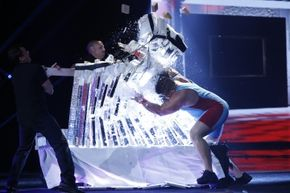 """Strongman J.D. """"Iceman"""" Anderson has appeared on several shows to demonstrate his icebreaking ability."""