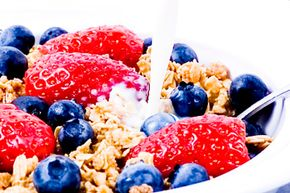 Fresh fruit is a healthy, high-fiber breakfast food. See more pictures of fruit.