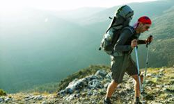 Trekking poles can be a great aid to long-distance hikers; they can help with balance over rough terrain, and can also be used with a tarp to create a shelter.