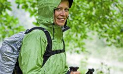 You have to be prepared for whatever the weather throws at you while you're on the trail -- especially rain -- so a waterproof parka is a must.