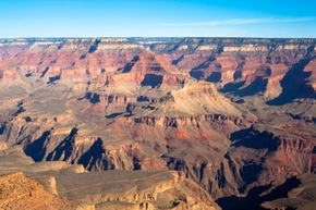 A view of the Grand Canyon from the South Rim