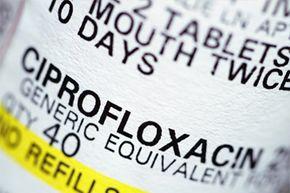 Ciprofloxacin is a common broad-spectrum antibiotic.